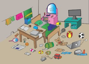 messy room parenting is hard
